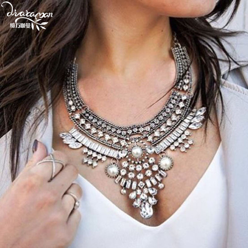 Simulated Pearl Necklace for Women Fashion Statement Necklace Christmas Gifts