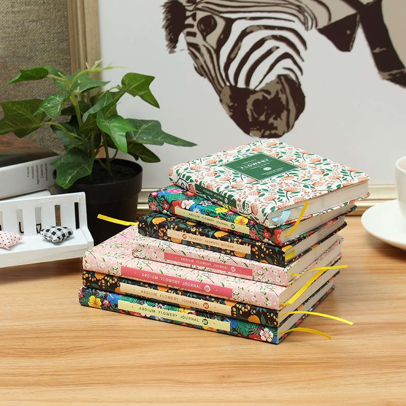 Kicute Floral Flower PU Leather Cover Schedule Book Diary Weekly Monthly Planner Organizer Notebook Office School Stationery kicute 2017 2018 calendar a4 leather notebook schedule daily weekly monthly planner agenda organizer diary stationery gift