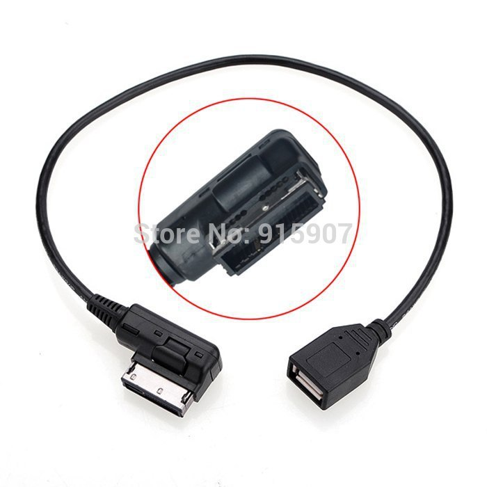CY Media In AMI MDI USB AUX Flash Drive Adapter Cable For
