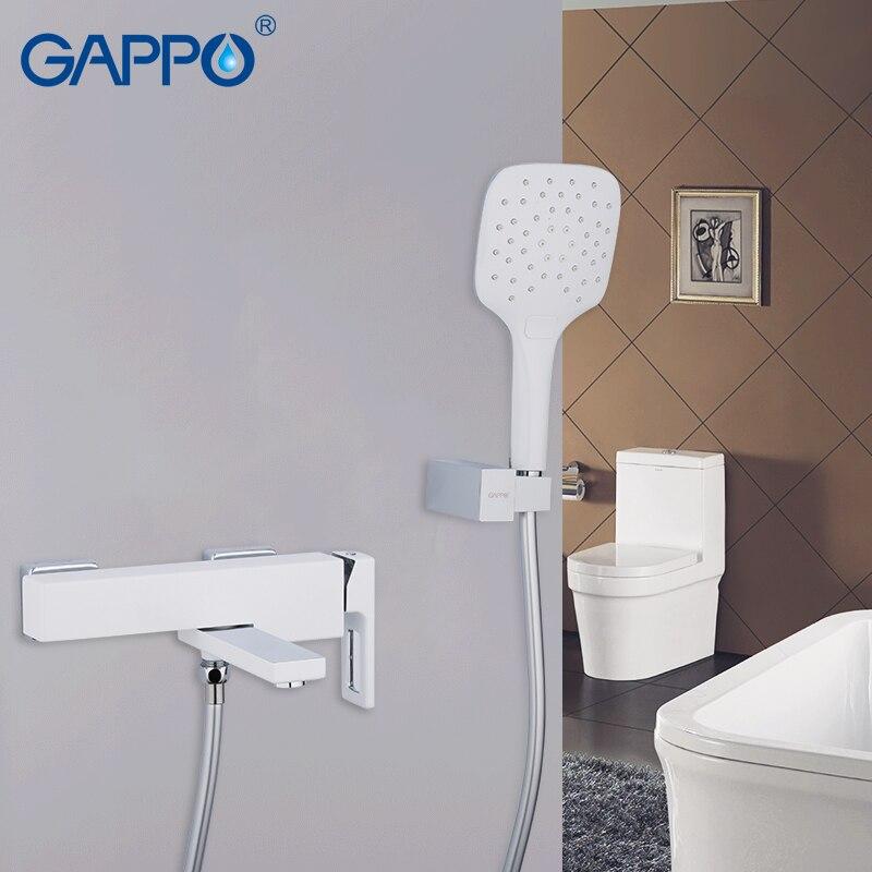 GAPPO смеситель для ванной, полированный Смеситель для ванной комнаты, верхний смеситель для душа, настенный кран с водопадом Robinet Baignoire