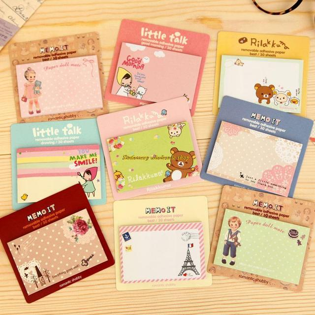 south korean stationery cute cartoon meng things fresh n paste