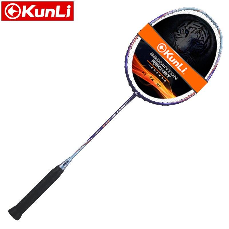 Livraison gratuite 100% raquette de badminton KUNLI originale CHEETH T9/T10 professionnel en carbone TB NANO technologie raquette de plumes