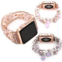 Nvphone уникальный дизайн Для женщин Агат браслет растягивающийся браслет для ручных часов для Apple Watch I Watch Series 1/2/3 42 мм 38 мм часы ремешок