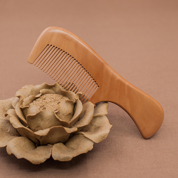 G14 Natural quality peach wood comb High-grade wood comb Hair makeup comb logo new arrival xiaomi xin zhi natural log comb no static pocket wooden comb hand made professional hair styling tool high quality