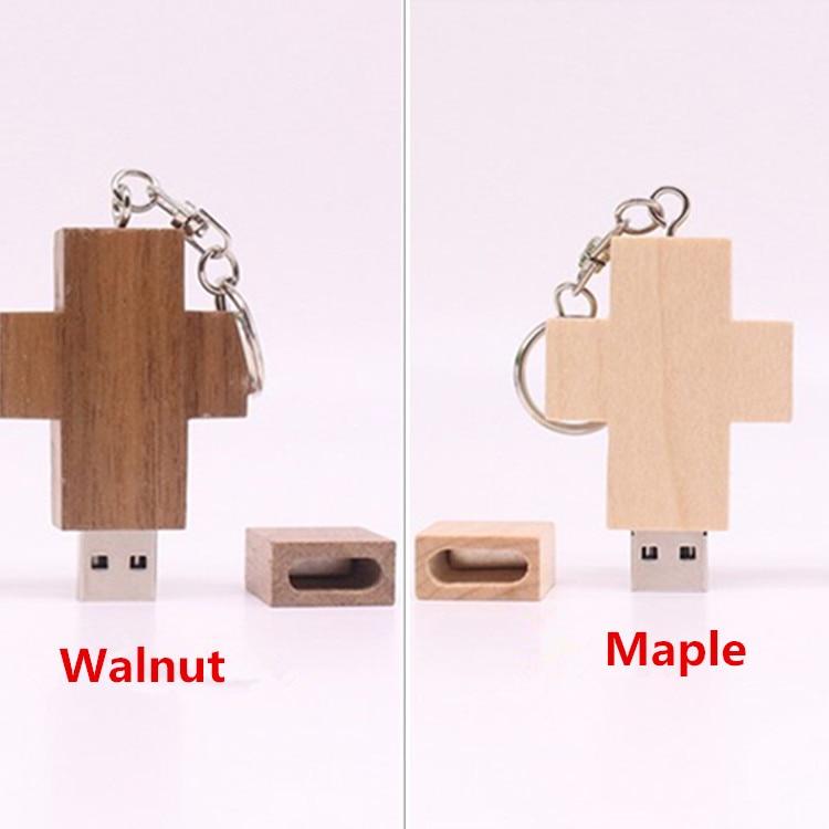 Top Quality Gift wooden pendrive Wood Cross USB Flash Drive USB Momery 4GB 8GB 16GB 32GB ...