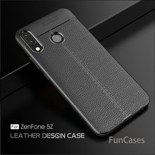 "Luxe Carbon Fiber Leather Tpu Shockproof Case Voor Asus Zenfone 5z ZS620KL/Zenfone 5 2018 ZE620KL ASUS_X00QD 6.2 ""soft Cover(China)"