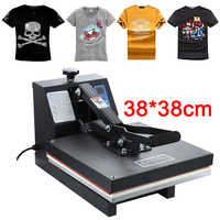 High Pressure 38x38CM T-shirt Printing Machine Sublimation Printer Heat Transfer Bag Case Puzzle Glass Wood Rock Photo
