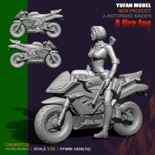 Yufan Model 1/35 Figura Resin Soldier Sail Original Sexy Beauty Electric Cyclist Girl Sagittarius YFWW35-1828