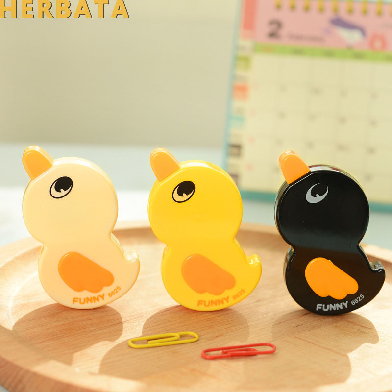 Free Shipping 1pc/lot Kawaii Duck Cartoon Animals Correction Tape Correction Fluid School $ Office Supply Fod CL-1403