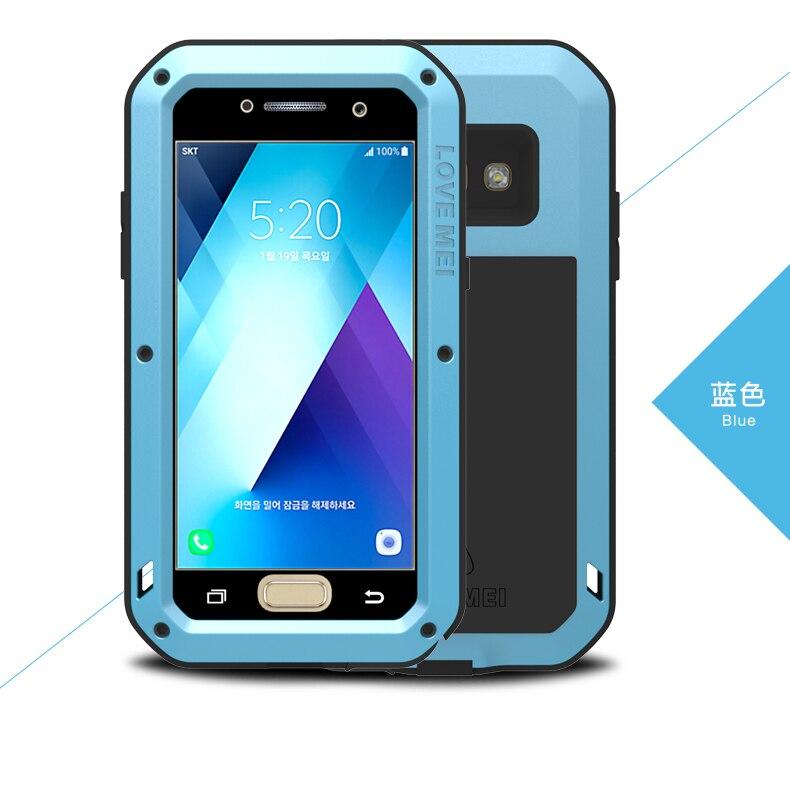 Цена за Для Samsung Galaxy A5 2017 A520F Дело ЛЮБОВЬ МЭЙ Шок Грязь Доказательство Водостойкий Металлический Броня Обложка Чехол Для Телефона для A3 A5 A7 2017