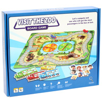 Visit the Zoo Board Game Family Parent child Puzzle Game