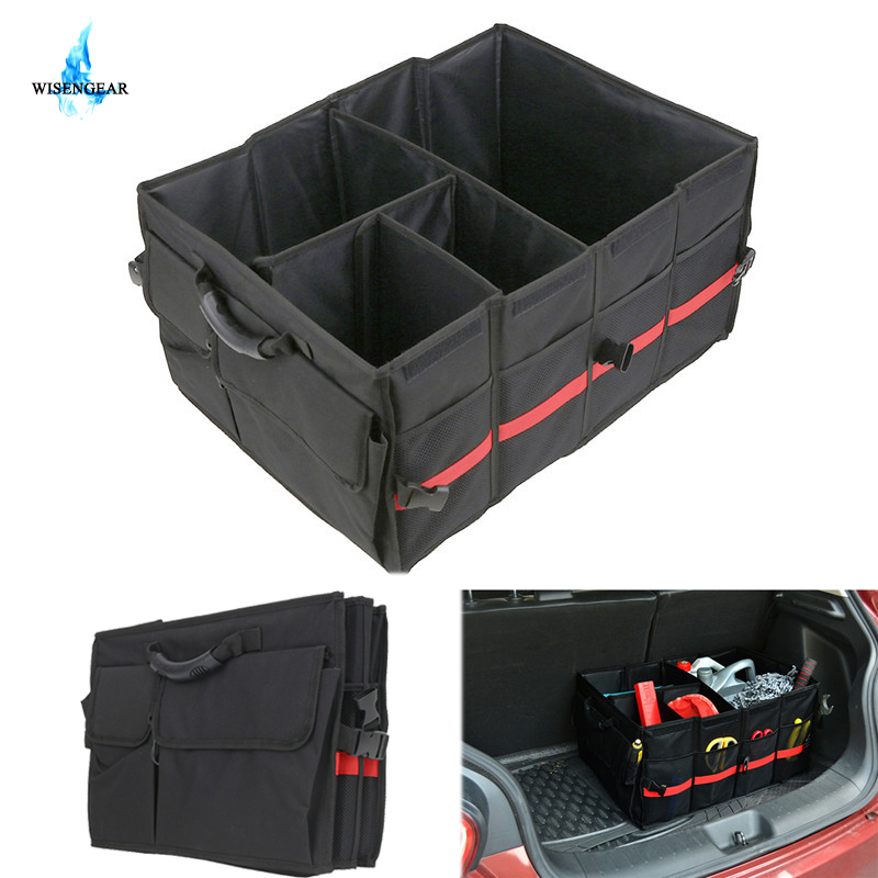 Wisengear Оксфорд БАГАЖНИК Грузовой сумка для хранения нескольких Карманный инструмент организатор сумка складной сиденье коробка Saddlebag для Jeep...