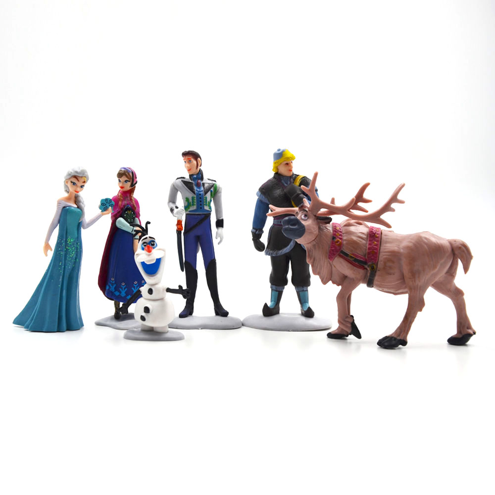 Disney Frozen Top Selling Toys Plastic Action Figures Frozen Cartoon Toys Anime Toys Figures 6 Pcs Brinquedos Ty062 6pcs set disney toys for kids birthday xmas gift cartoon action figures frozen anime fashion figures juguetes anime models