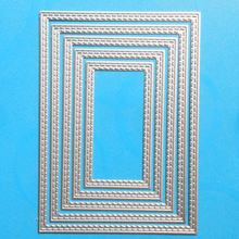 YINISE 1069 Rectangle Metal Cutting Dies For Scrapbooking Stencils DIY Album Cards Decoration Embossing Folder Die Cuts Tools