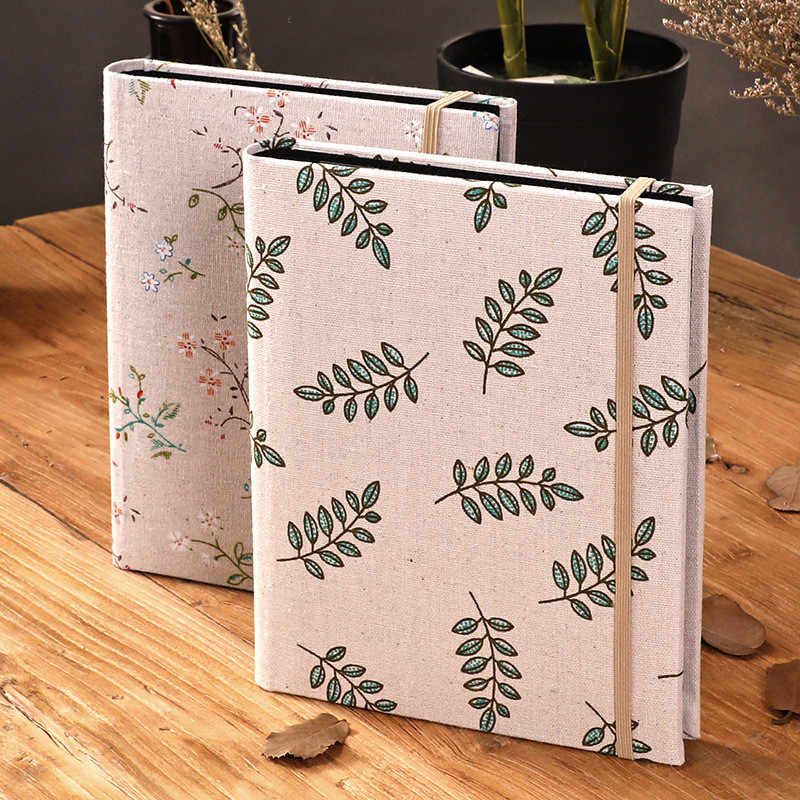 Creative 200 Pockets Cloth Floral Baby Photo Album Vintage Carved Handmade DIY Insert Flush Mount Album Scrapbook Photo Albums