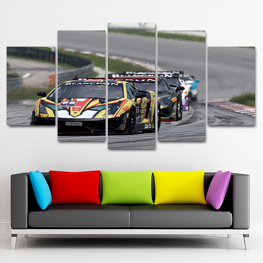 Modern Sports Car Interior Painting, Oil Painting And