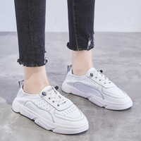 2019 Genuine Leather Shoes Women Sneakers Soft Women Flats Cow Leather Women Shoes Casual Female Shoes White Pink YX1534