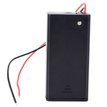 Wholesale! 9V Wired Battery Holder Box 1 Slots Power Battery Storage Case Box Holder Leads with Cover on-Off Switch 2xaa battery holder case box with cover xh2 54 2p cable switch
