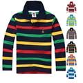 High Quality Boys T shirts Long Sleeve Children Sweaters Kids Polo Shirt  Cotton Stripe Brand Girls T-Shirts