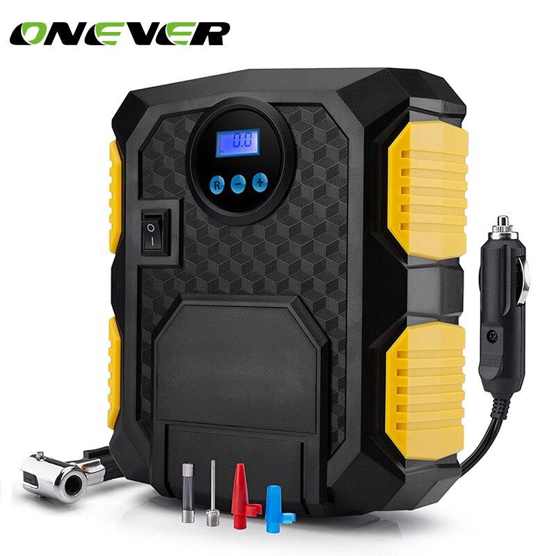 Onever Digital Tire Inflator DC 12 Volt Car Portable Air Compressor Pump 150 PSI Car Air Compressor for Car Bicycles Motorcycles