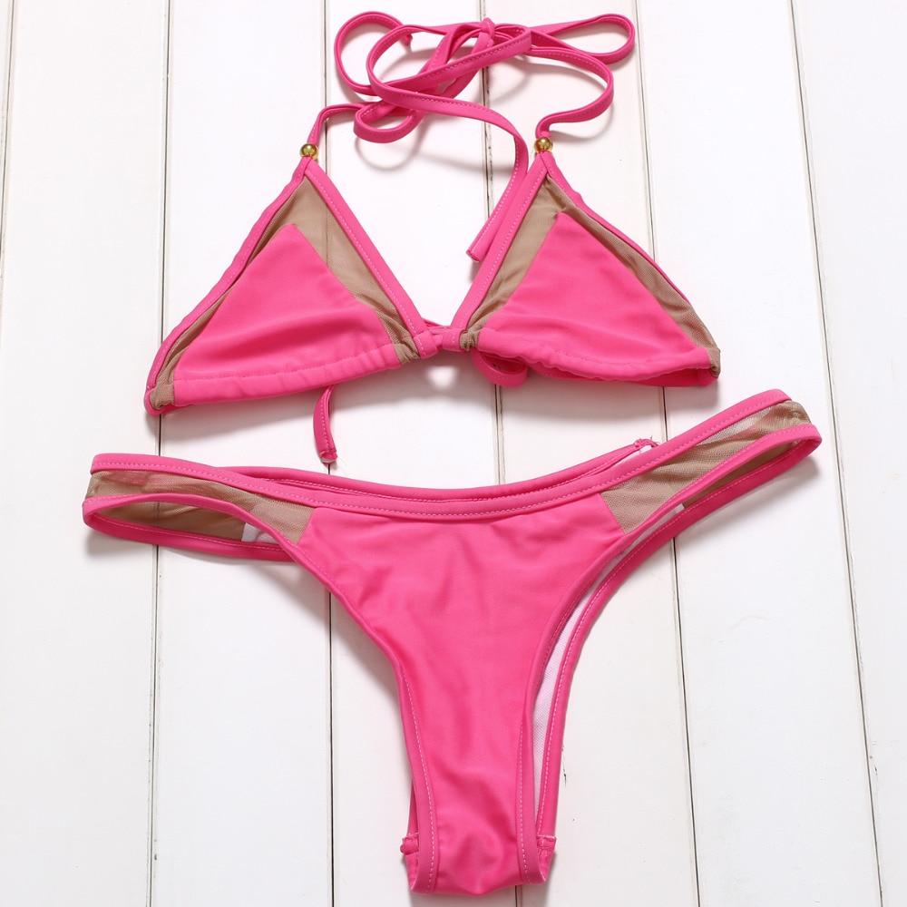 JABERAI Mesh Bathing Suit 2017 Bikini Set Splicing Push Up Swimsuit Brazilian Swimwear Women Halter Biquini Maillot de Bain 4