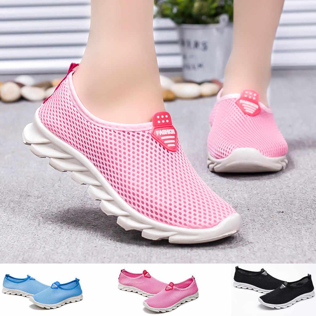 Femmes chaussures dames loisirs respirant maille en plein