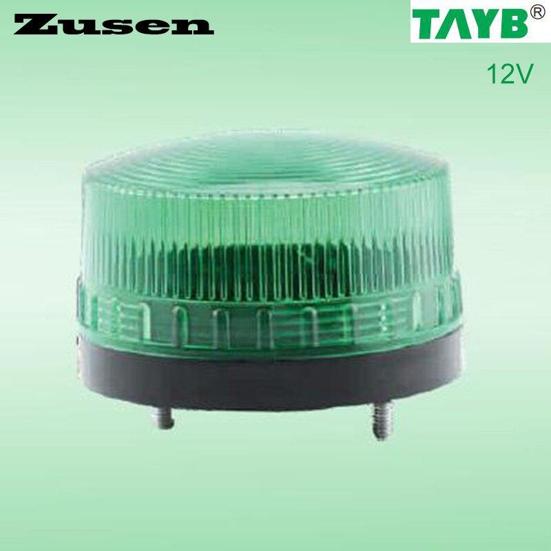Zusen Green Led TB35-G-12V 12V  Strobe Signal Warning Light LED Lamp Small Light