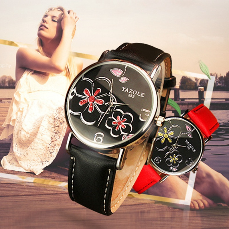 YAZOLE Brand Ladies Watch Women Watches 2016 Female Clock Quartz Watch Wrist Hodinky Quartz-watch Montre Femme Relogio Feminino luxury gold watches women quartz steel wrist watch casual ladies clock wristwatches hodinky montre femme saat relogio feminino