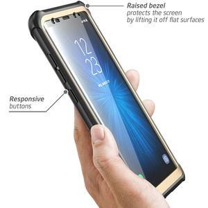 Image 4 - For Samsung Galaxy Note 8 Case Original i Blason Ares Series Full Body Rugged Clear Bumper Case with Built in Screen Protector