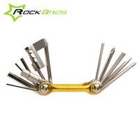 ROCKBROS 11 In 1 Cr Mo Metallic Bike Bicycle Multi Function Mini Pocket Repair Tool Tools