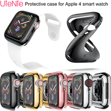 40mm/44mm width Soft silicone case For Apple watch 4 smart frontier dial protection shell accessories