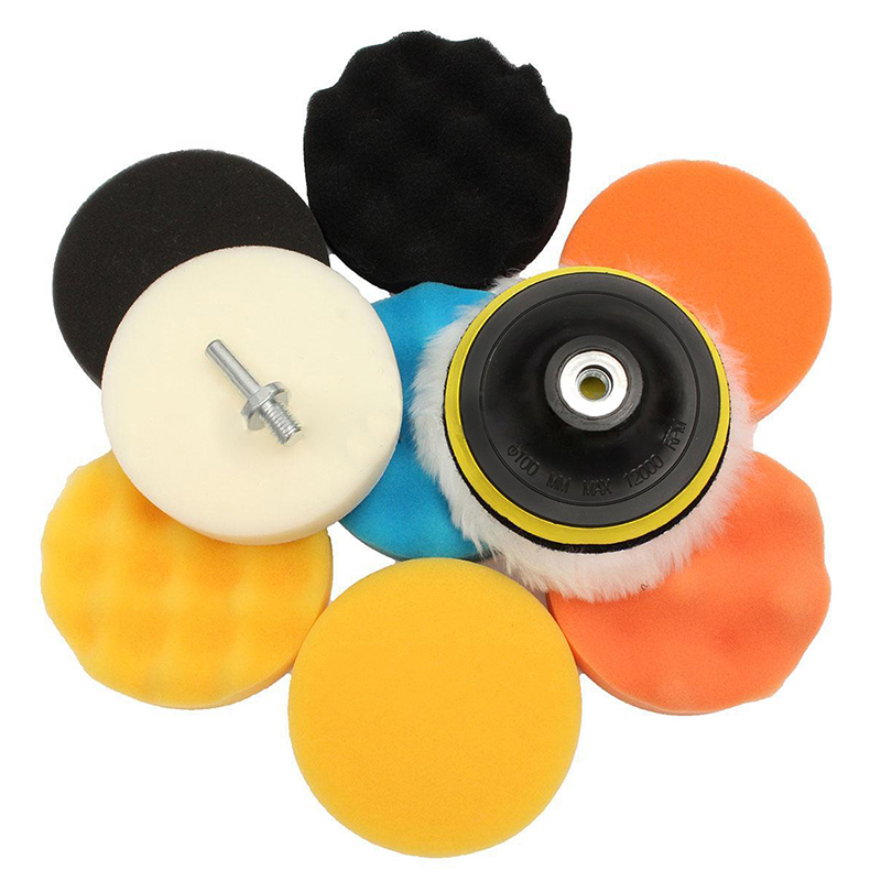 11x professional polishing sponge set 100mm polishing machine polishing set polishing shavings