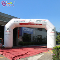 customized 9X5X1.5M inflatable white arch with PVC tarpaulin, inflatable arch with logo printing toys