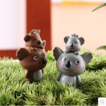 ZOCDOU 1 Piece Koala Kaura Mother and Son Zoo Model Small Statue Figurine Crafts Mini Ornament Miniatures House Office Decor image