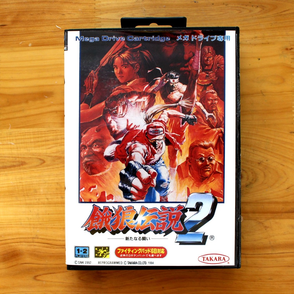 Fatal Fury 2 16 Bit MD Game Card with Retail Box for Sega MegaDrive & Genesis Video Game console system