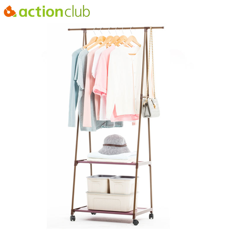 Actionclub Triangle Coat Rack Removable Hangers Bedroom Clothes Hanger Floor Stand Coat Rack With Wheels Hanging Clothes Rack