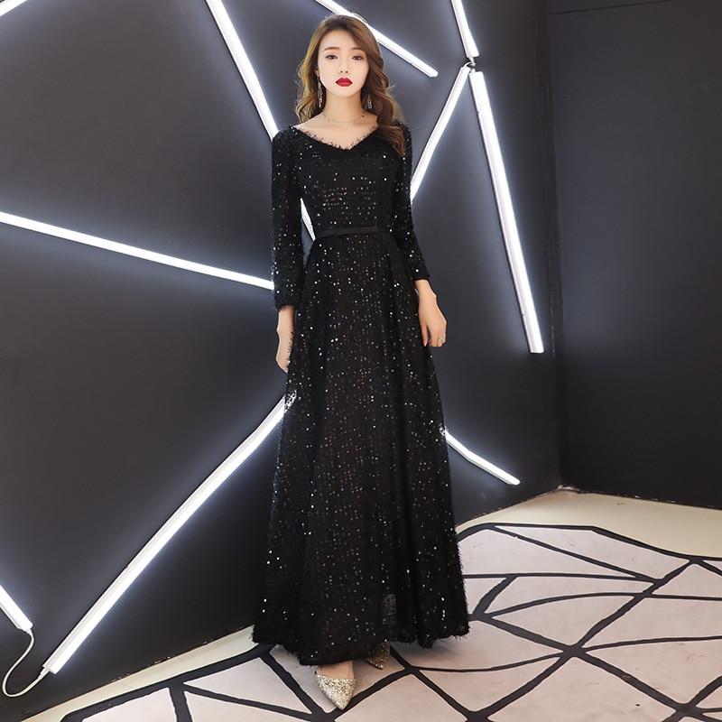Ceewhy Saudi Arabia Evening Dresses 2018 Dubai Kaftan Black Evening Dress Ball Gown Abiye Gece Elbisesi Robe De Soiree Weddings & Events