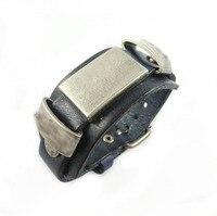 Free Shipping 100 Genuine Leather Bracelet Men For Women Retro Punk Cowhide Bracelets Homme