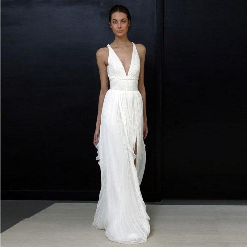 2017 Sheath Wedding Dresses For Greek Goddess Simple: Formal Dresses For Greek Goddess Simple Woman Formal Wear