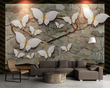 Beibehang Customized Photo Wallpaper 3D Stylish butterfly painting 3d reliefs Non-Woven Bedroom Wall Home decoration paper