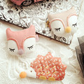 New Sold By Piece Girls Hair Accessories Cloth Art Candy Color Hedgehog Fox Hairpins Cute Baby Accessories Hair Accessories
