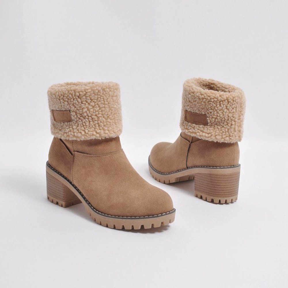 Yüksek topuklu platformu takozlar ayakkabı kadın 2019 kadın Bayanlar Kış Ayakkabı için Akın Sıcak Çizmeler Martin Kar Botları Kısa bootie # 4gh