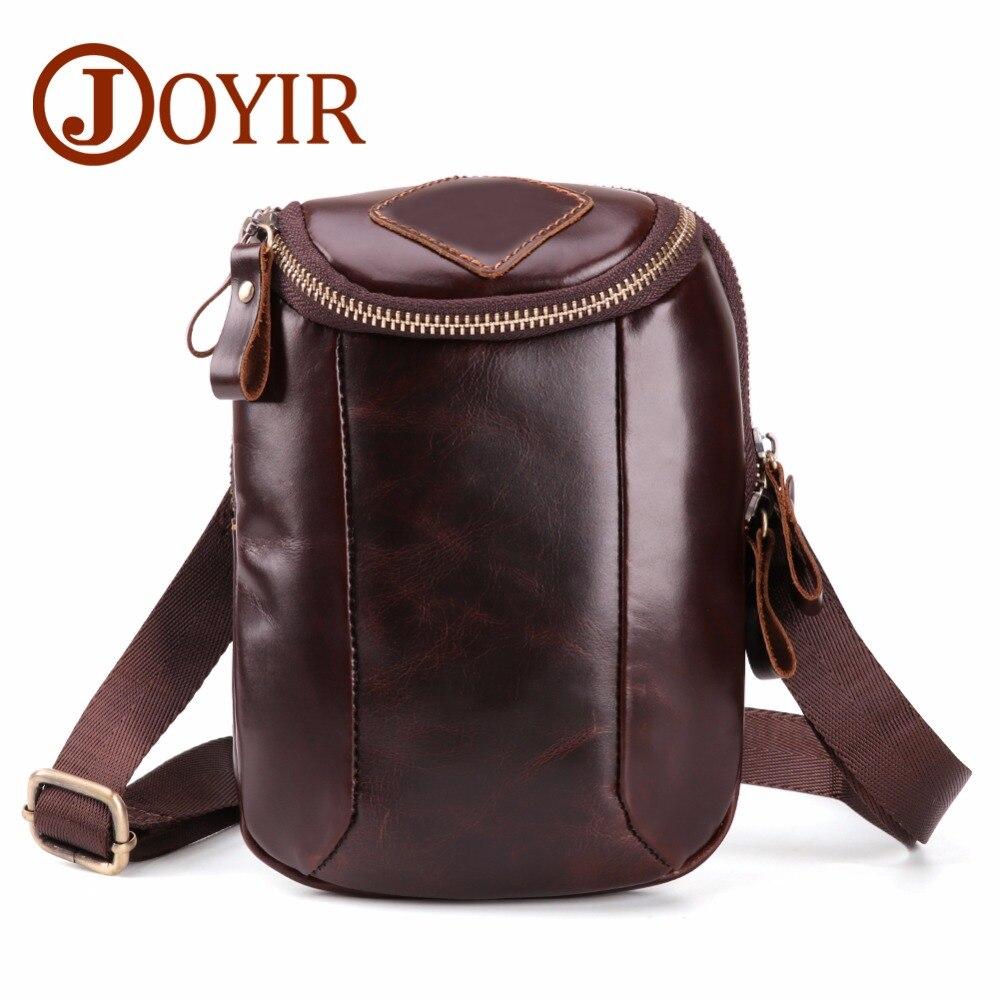 JOYIR Genuine Leather Mens Bags Small Flap Casual Phone Messenger Male Crossbody Shoulder Business Handbag