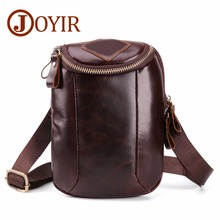 JOYIR Genuine Leather Mens Bags Small Flap Casual Phone Messenger Male Crossbody Shoulder Business Handbag