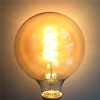 E27 Warm White 2200K AC220V AC230V 240V G125 4W Bulb Home Decor LED Christmas Light Dimmable