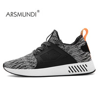 ARSMUNDI Men S Fashion Sneaker 2017 Summer Breathable Flywire Were Resistant Superstar Shoes Light Running Red