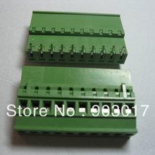 30 шт./партия 5.08A 5,08 мм угол 10 pin Клеммная колодка Разъем подключаемый тип высокое качество горячая распродажа