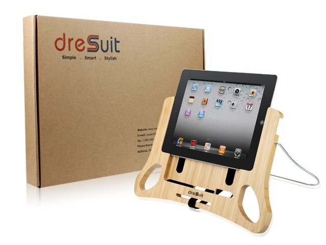 Dresuit Comforpad Bamboo Stand Holder For Ipad 2 3 4 Tablet Reading In Bed Sofa