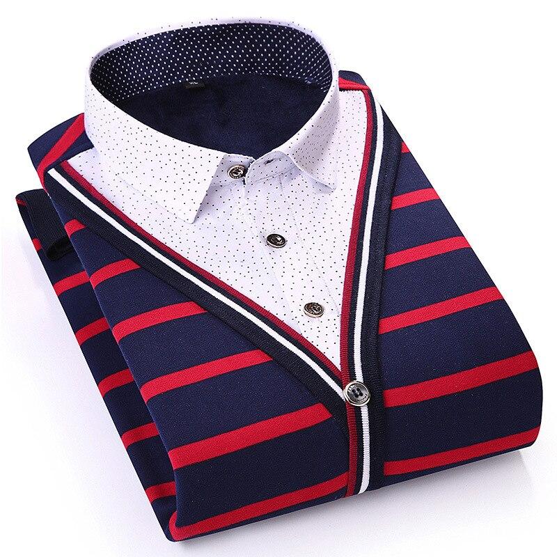 Pull Hommes 2019 nouvelle mode Automne Hiver à manches longues Hommes Chandail pull en coton Rayé Slim Fit Mens Chandails 9552724