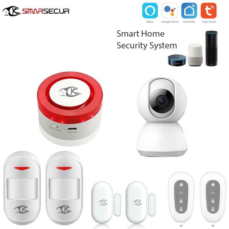 Wireless Alarm Systems wifi Security Home andriod IOS Smart life app control Compatible with Ip camera Wireless Alarm Systems wifi Security Home andriod IOS Smart life app control Compatible with Ip camera